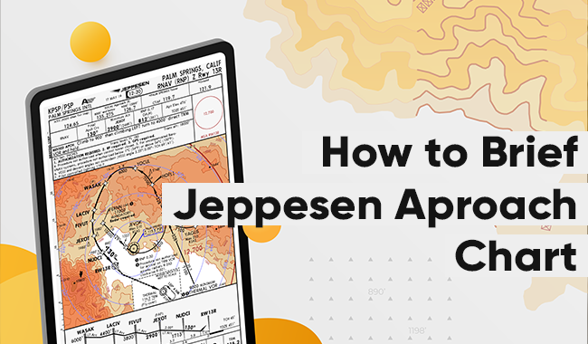 How to brief an instrument approach using Jeppesen