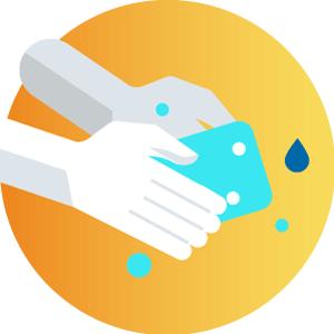 Hand-Washing-before-using-the-flight-simulator